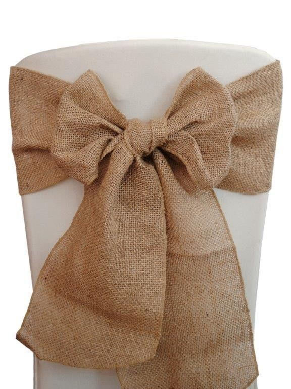 Burlap Chair Sashes 6