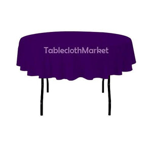 "58"" Inch Round Polyester Tablecloth 24 Color Table Cover Wedding Catering Dinner"""