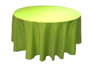 "10 Pack 120"" Inch Round Polyester Tablecloth 24 Color Table Cover Wedding Party"