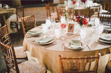 "5 x Burlap Overlay 72"" × 72"" 100% Natural Jute Tablecloths Table Covers Wedding"""