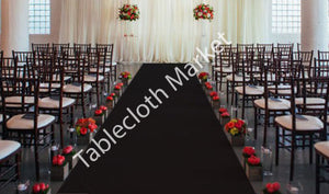 "25 Ft Satin Aisle Runner 60"" Wide 100% Seamless Fabric Wedding 20 Colors"