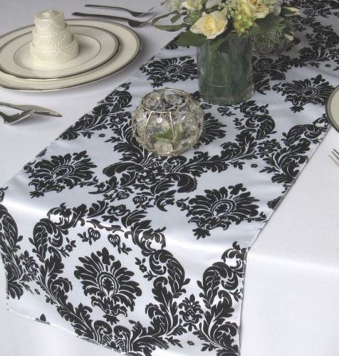 10 Pack Flocked Taffeta Damask 12