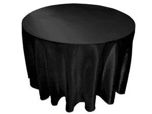 "25 Pack 132"" Inch Round Satin Tablecloth 21 Colors Table Cover Wedding Banquet"