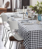 "5 x Checkered Tablecloths 60""— 126"" Rectangular Gingham 100% polyester 4 COLORS"""