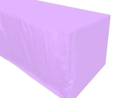 8' ft. Fitted Polyester Table Cover Wedding Banquet Event Tablecloth Lavender