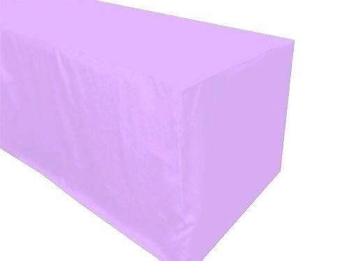 4' ft. Fitted Polyester Table Cover Wedding Banquet Event Tablecloth Lavender
