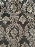 "15 Yards Royal Grey Black Flocking Damask Taffeta Velvet 45ft Fabric 58"" Flocked"""