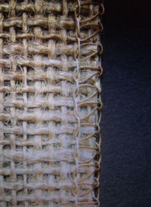 12 inch wide 50 yards Roll 10 oz Hemmed Jute Burlap HOME DECOR ( Surged Edges )""