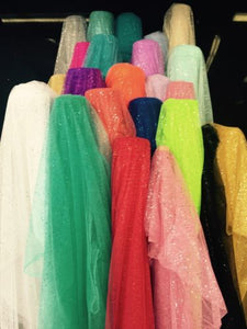 60 Inch Wide Glitter Mesh Sequins Tulle Fabric By Yard Craft Decoration Wedding""