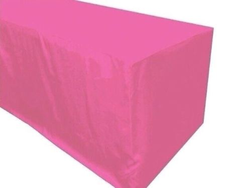 4' Ft. Fitted Polyester Tablecloth Trade Show Booth Party Table Cover Pink