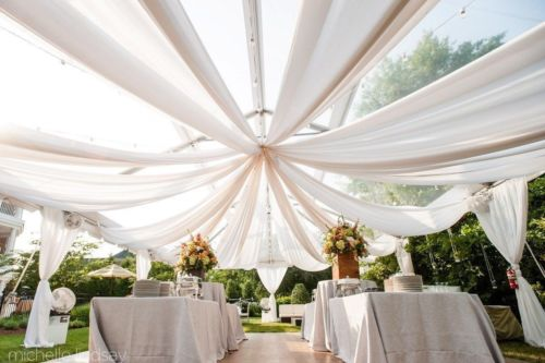 Ceiling Draping Sheer Voile Chiffon Ceiling Drape Panel Wedding 19 Sizes 2 Color