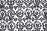 "5 yards Black White Flocking Damask Taffeta Velvet 15f Fabric 58"" Flocked Decor"""