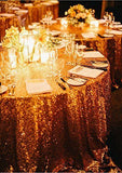 "120"" Round Sequin Sparkly Design Shiny Tablecloth Table Cover 4 Colors Wedding"