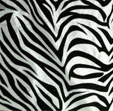 25 Yards White Black Flocking Zebra Taffeta Fabric 75 ft Flocked Animal Print""