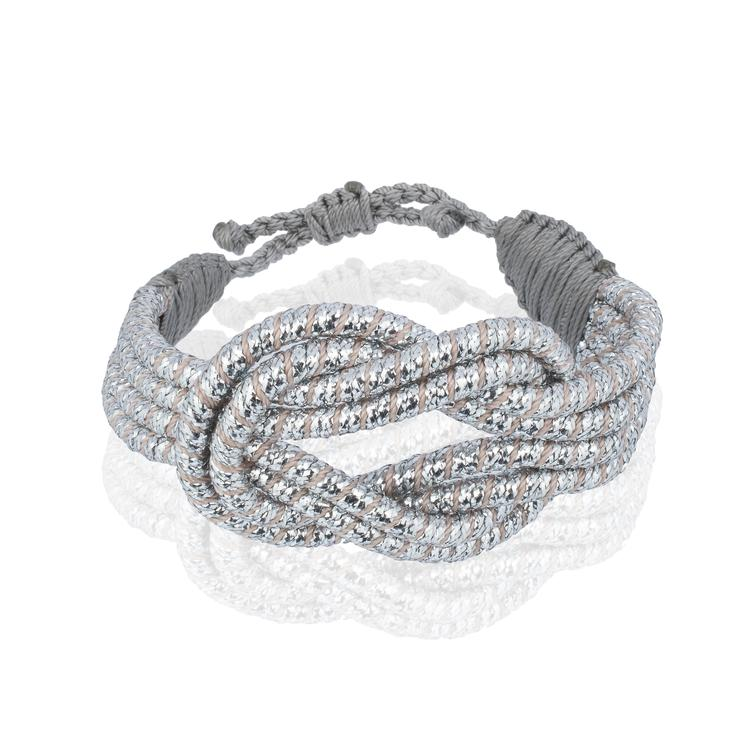 Sequence Collection - Open Knot Bracelet - Silver