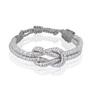 Sequence Collection - Open Knot Bracelet Silver