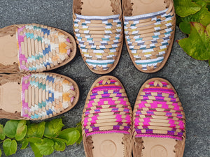 IX Style - Classic Woven Huarache Sandals with Multicolor Ikat