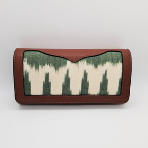 Morello - Long Wallet - Brown with Green & White Jaspe