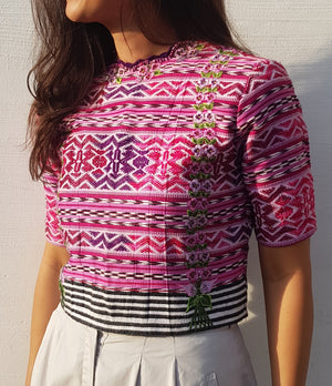 Down to Xjabelle - Huipil Cropped Top
