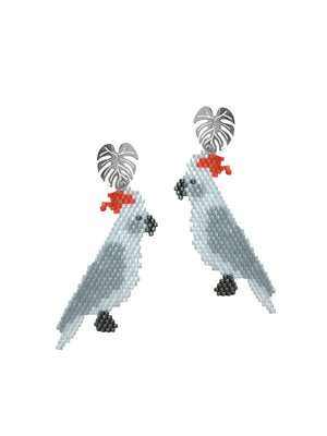 Jetlagmode - Cacatua Earrings
