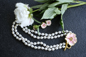 Eleonora Varini - Poppy Necklace with Big Pearls