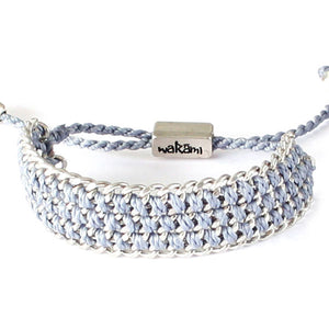 Wakami - Life is What… – Strength Bracelet – Light Blue