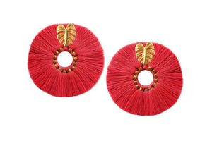 Jetlagmode - Coral Wild Flower Earrings