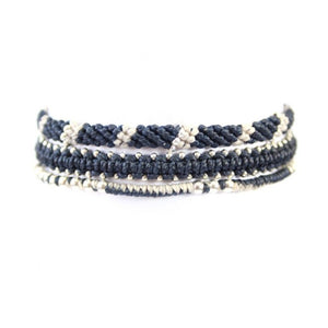 Wakami - Circle of Life – Set of 3 Bracelets – Blue/Silver