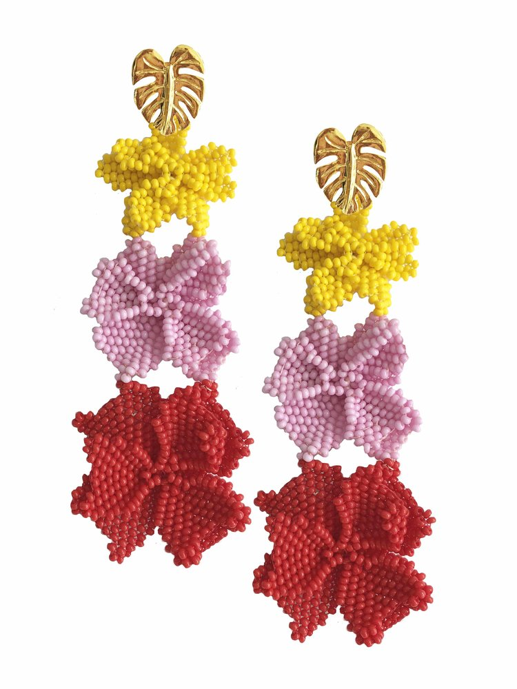 Jetlagmode - Colorful Garden Earrings