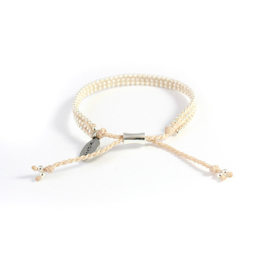 Wakami - Life is What… – Kiss Beige Bracelet