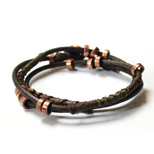 Wakami - Men's Wrap Earth Bracelet- 4 Elements
