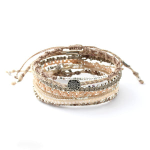 Wakami - Women's Earth Bracelet 7 Strand - Winter Weather