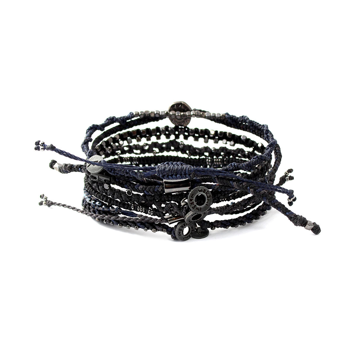 Wakami - Women's Earth Bracelet – Set of 7 Strands – Dark Night