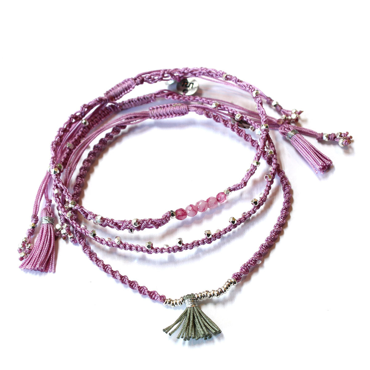 Wakami - 3 Bracelets Set - Light Purple