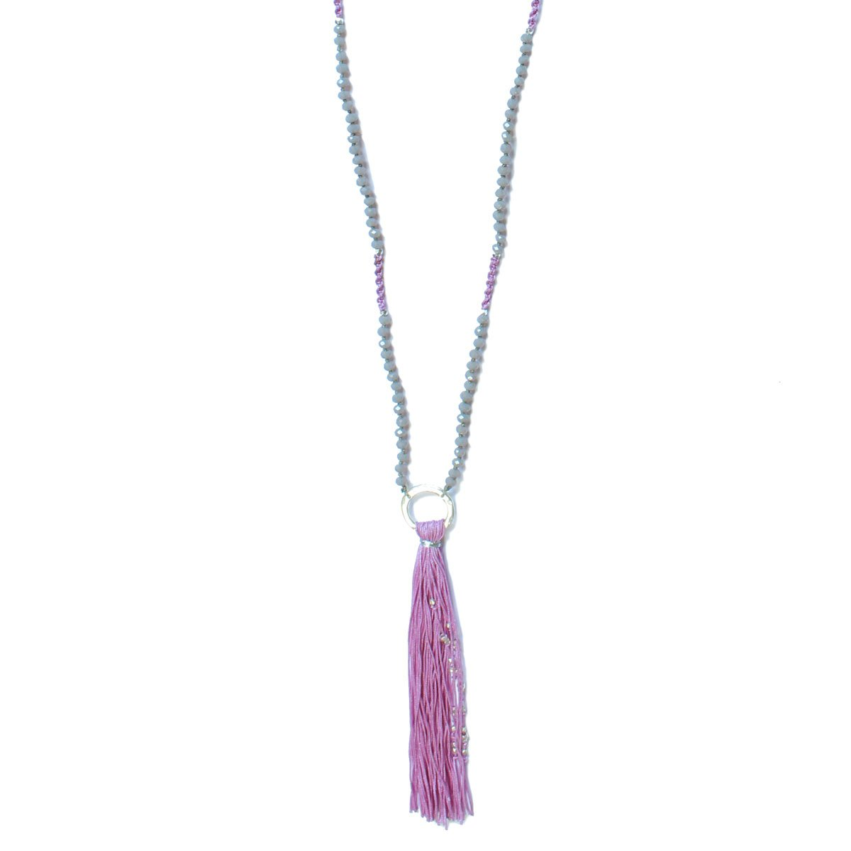Wakami - Tassel Necklace - Light Purple