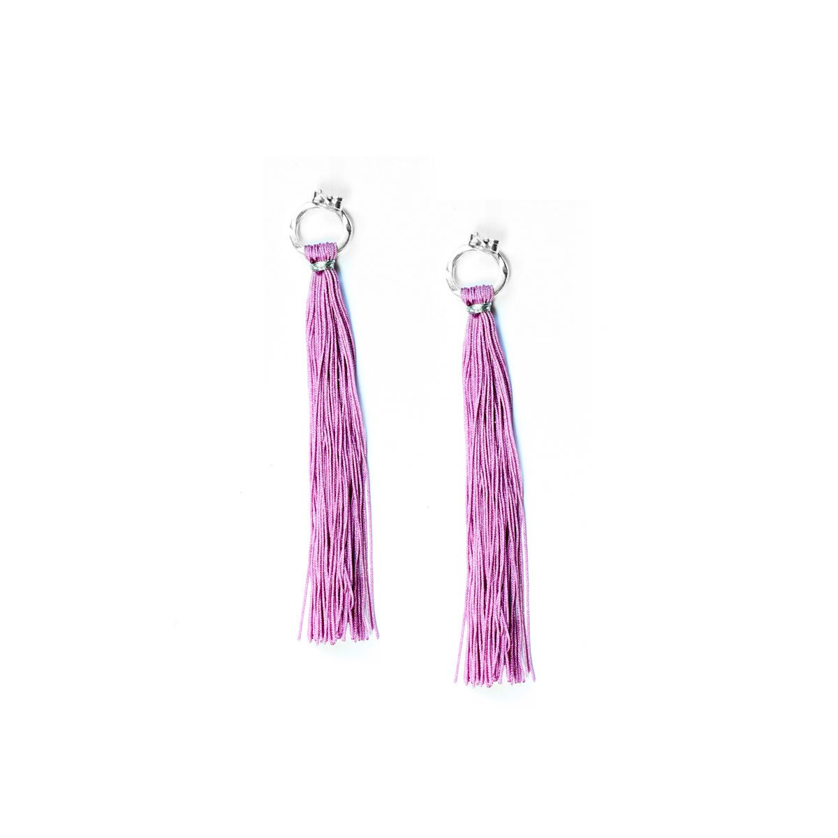 Wakami - Tassel Earrings - Light Purple