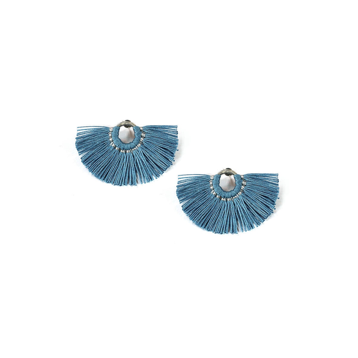 Wakami - Fan Earrings - Light Blue