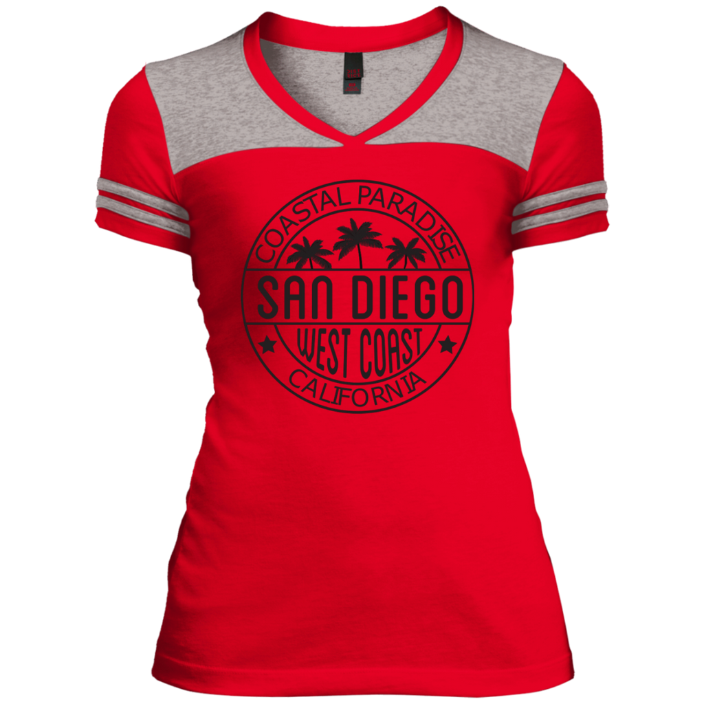 Womens Junior's Varsity V-Neck T-Shirt