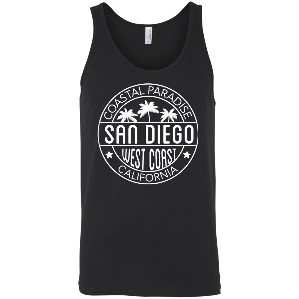CA West Coast Coastal Paradise Bella + Canvas Mens Tank
