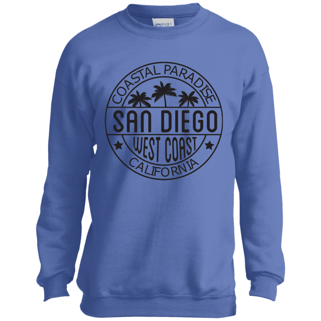 Coastal Paradise Trendy Premium Port and Co. Youth Crewneck Sweatshirt