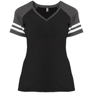 Sporty Trendy Disctrict Ladies' Game V-Neck T-Shirt