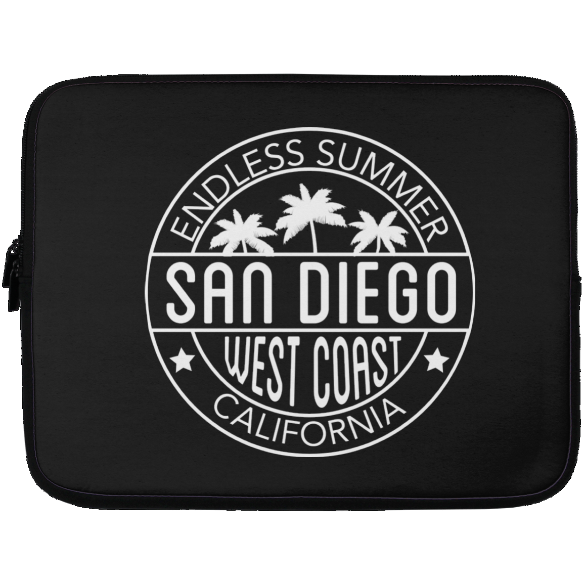 San Diego Endless Summer Style Laptop Sleeve - 13 inch