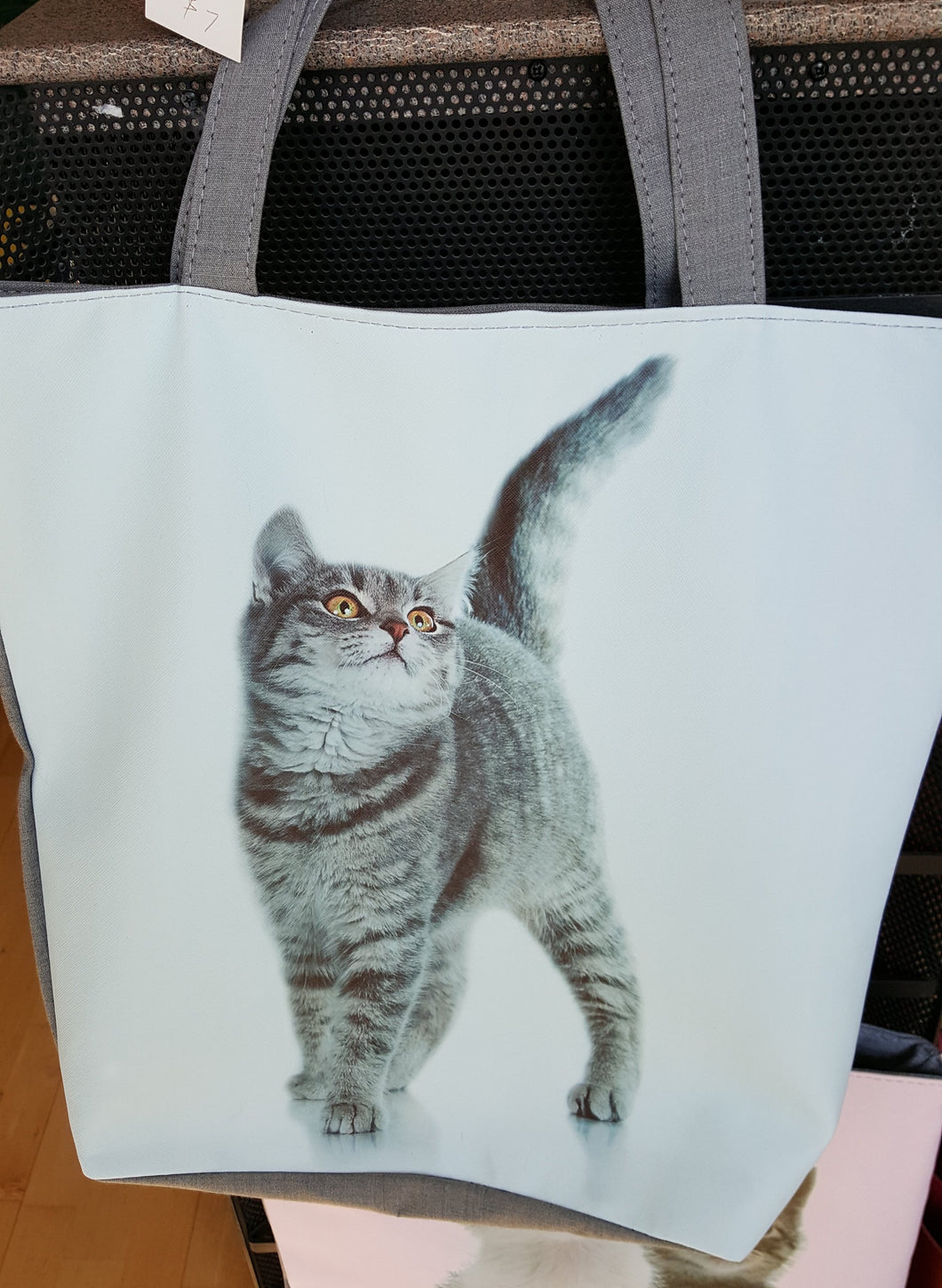 Cat tote #3, Tabby cat