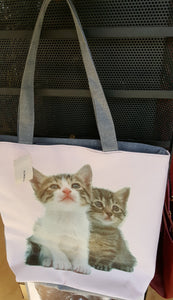 Cat tote #1, two kittens