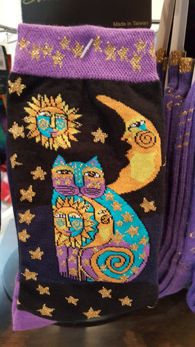 Cat socks, Laurel Burch, Sun Moon and Cat