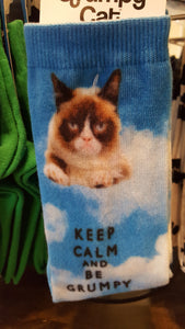 Cat socks, Grumpy Cat, Keep calm and be Grumpy