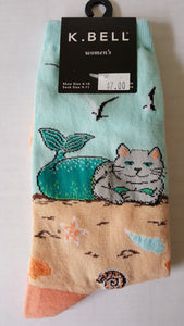 Cat socks, cat mermaid