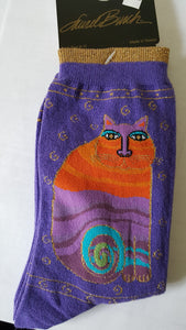 Cat socks, Laurel Burch, multi cat