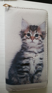 Cat wallet # 20, striped kitten