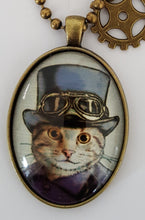 Cat necklace, steampunk